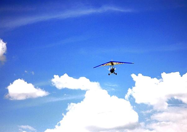 坝上草原高空滑翔